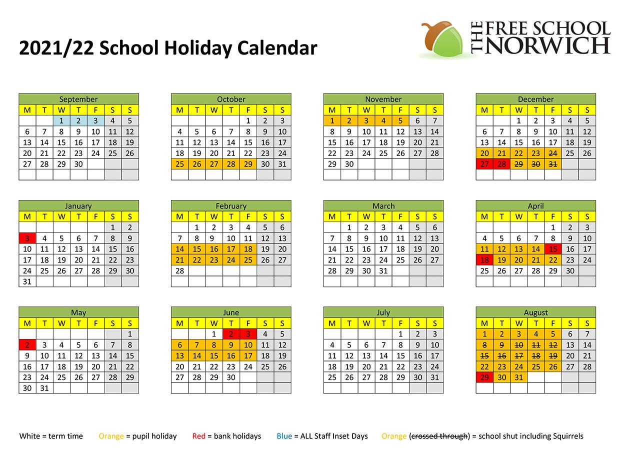 Term Dates - The Free School Norwich